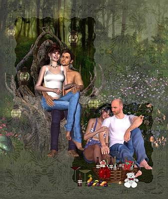 Romantic Getaway Art Print by Morning Dew