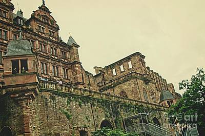 Photograph - Romantic Heidelberg Castle Ruins In Germany by Elzbieta Fazel