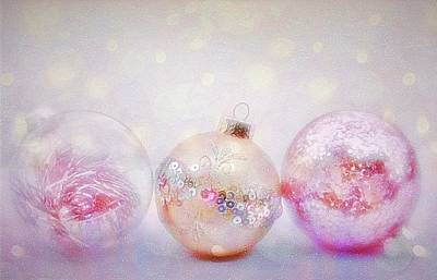 Photograph - Romantic Holiday Ornaments by Diane Alexander
