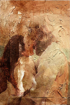 Digital Art - Romantic Kiss by Andrea Barbieri