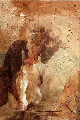 Digital Art - Romantic Kiss by Andrea Barbieri