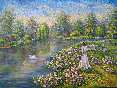 Painting - Romantic Lake by Mirjana Gotovac
