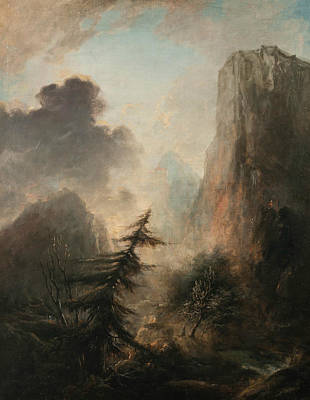 Painting - Romantic Landscape With Spruce by Elias Martin