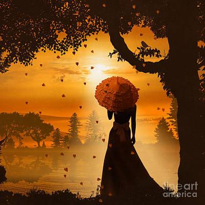 Evening Dress Mixed Media - Romantic Light  by Monika Juengling