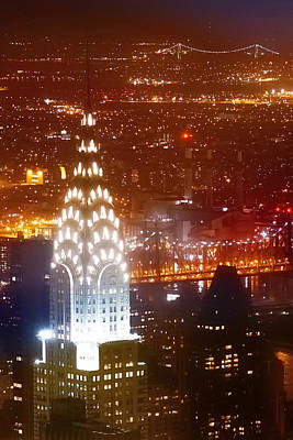 Chrysler Building Photograph - Romantic Manhattan by Az Jackson