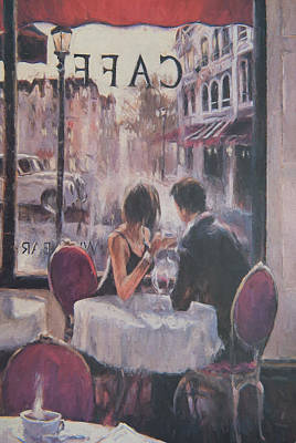 Romantic Meeting 2 Art Print by Roy Pedersen