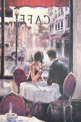 Romantic Meeting 3 Art Print by Roy Pedersen