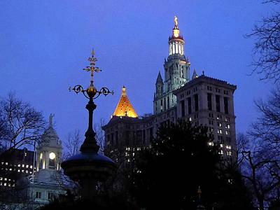 Photograph - Romantic New York Night by Art America Gallery Peter Potter
