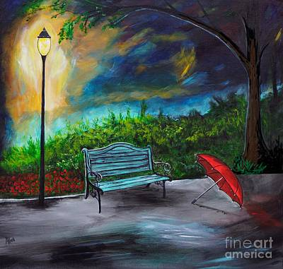 Painting - Romantic Park by Leslie Allen