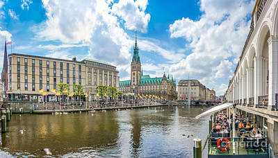Summer Photograph - Romantic Place In Hamburg Downtown by JR Photography