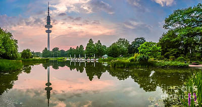 Romantic Pond In Park In Hamburg Art Print by JR Photography