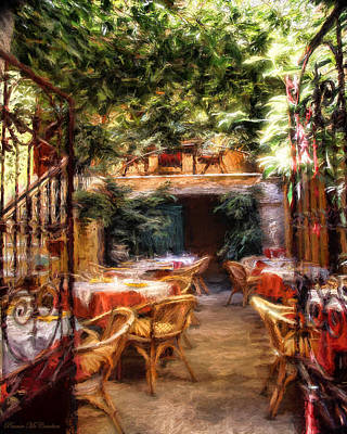 Mixed Media - Romantic Restaurant by Pennie McCracken