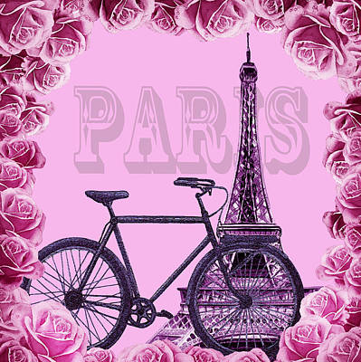 Painting - Romantic Ride To Paris by Irina Sztukowski