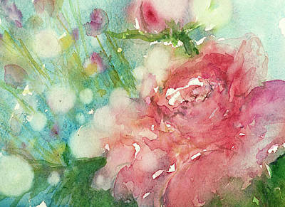 Painting - romantic Rose by Judith Levins