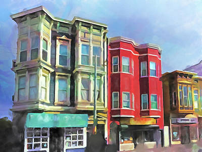 Painting - Romantic San Francisco by Lutz Baar