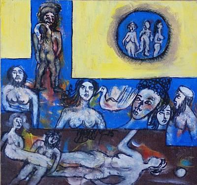 Sex Position Painting - Romantic Scene by Azeem Ullah Babar
