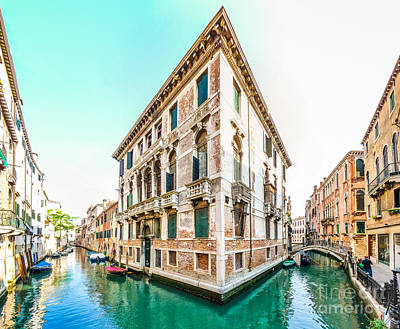 Photograph - Romantic Scene In The Streets Of Venice, Italy by JR Photography