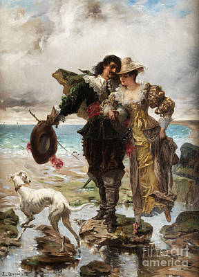 Painting - Romantic Scene On The Sea by Celestial Images