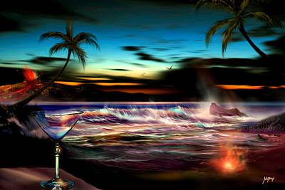 Wyland Digital Art - Romantic Shores by Nathan Lewis