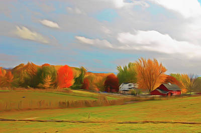 Photograph - Romantic Skies Autumn Farm by Aimee L Maher Photography and Art Visit ALMGallerydotcom