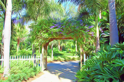 Photograph - Romantic Skies Garden Walkway by Aimee L Maher Photography and Art Visit ALMGallerydotcom