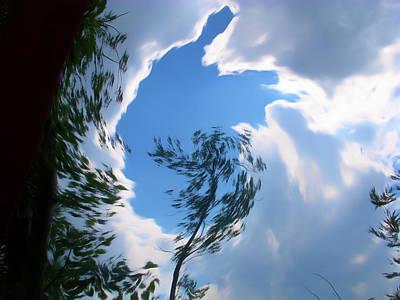 Romantic Skies Into The Sky Art Print