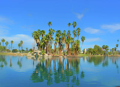 Photograph - Romantic Skies Palm Tree Reflections by Aimee L Maher Photography and Art Visit ALMGallerydotcom
