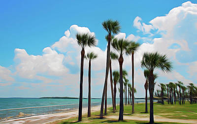 Photograph - Romantic Skies Palms Blowing by Aimee L Maher Photography and Art Visit ALMGallerydotcom