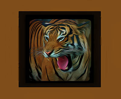 Photograph - Romantic Skies Portrait Of A Tiger by Aimee L Maher Photography and Art Visit ALMGallerydotcom