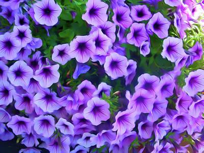 Photograph - Romantic Skies Purple Petunias by Aimee L Maher Photography and Art Visit ALMGallerydotcom