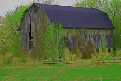 Photograph - Romantic Skies Rustic Barn Close Up by Aimee L Maher Photography and Art Visit ALMGallerydotcom