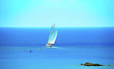 Photograph - Romantic Skies Sail The Ocean Blue by Aimee L Maher Photography and Art Visit ALMGallerydotcom