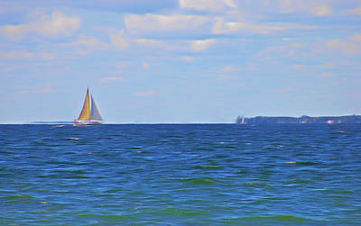 Photograph - Romantic Skies Sailing The Blue by Aimee L Maher Photography and Art Visit ALMGallerydotcom