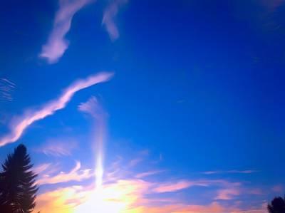 Lady Bug - Romantic Sky View by Debra Lynch
