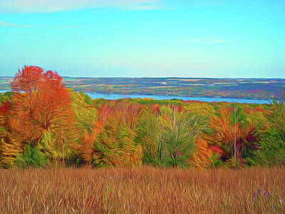 Canandaigua Lake Photograph - Romantic Slies Autumn Glory by Aimee L Maher Photography and Art Visit ALMGallerydotcom