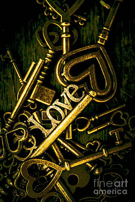 Tryst Photograph - Romantic Still Life Keys In Sentiments Of Love by Jorgo Photography - Wall Art Gallery