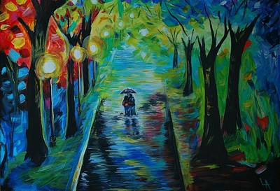 Painting - Romantic Stroll by Leslie Allen