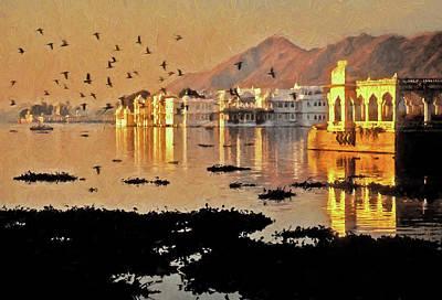 Digital Art - Romantic Udaipur by Dennis Cox Photo Explorer