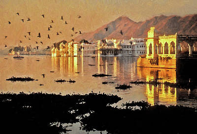 Digital Art - Romantic Udaipur by Dennis Cox