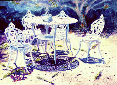 Romantic White Garden Print by Estela Robles