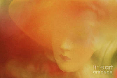 Mixed Media - Romantic Woman by Lutz Baar