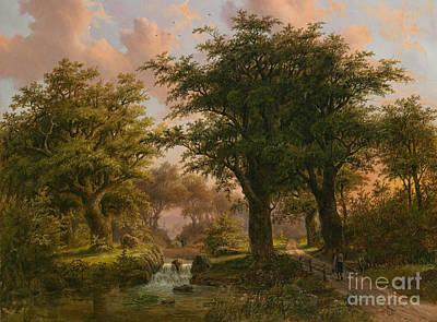 Woodland Painting - Romantic Woodland Landscape by MotionAge Designs