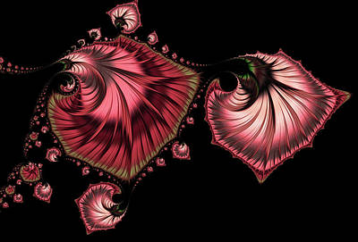 Digital Art - Romantically Jewelled Abstract by Georgiana Romanovna