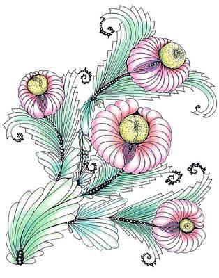 Drawing - Romashki by Alexandra Louie