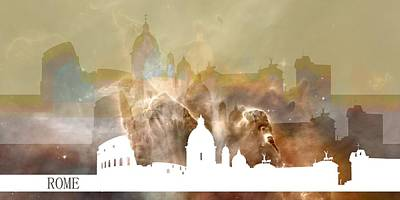 White Digital Art - Rome 3 by Alberto RuiZ