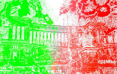 Photograph - Rome - Altar Of The Fatherland Colorsplash by Andrea Mazzocchetti