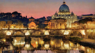 Painting - Rome And The Vatican City - 02 by Andrea Mazzocchetti