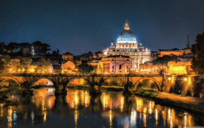 Painting - Rome And The Vatican City - 03 by Andrea Mazzocchetti