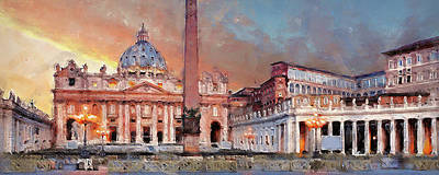 Painting - Rome And The Vatican City - 04 by Andrea Mazzocchetti