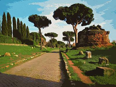 Painting - Rome, Appian Way - 01 by Andrea Mazzocchetti